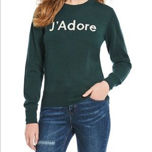 a loves a J'ADORE wool sweater large